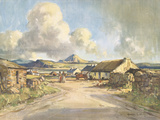Errigal Mount from Gola Island, County Donegal Giclee Print by Maurice Wilks