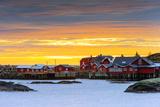 Europe, Scandinavia, Norway, Lofoten Islands, Moskenesoy, Moskenes, Sunset Photographic Print by Christian Kober