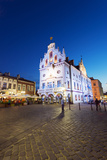 Europe, Poland, Rzeszow, Rynek Town Square, Neo-Gothic Style Town Hall Photographic Print by Christian Kober