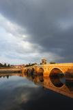 Turkey, Thrace, Edirne, Tunca Koprosu Stone Arched Bridge Photographic Print by Christian Kober