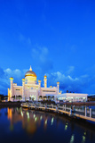South East Asia, Kingdom of Brunei, Bandar Seri Begawan, Omar Ali Saifuddien Mosque Photographic Print by Christian Kober