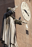 The Statue of Savonarola Outside the Castello Estense Ferrara Emilia-Romagna Italy Photo by Julian Castle