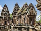 Cambodia, Banteay Srei, Siem Reap Province. Banteay Srei Hindu Temple. Photographic Print by Nigel Pavitt