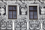 Czech Republic, Moravia, Trebic. Painted Facade in the Historic Centre. Photographic Print by Ken Scicluna