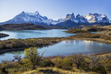 Chile, Torres Del Paine, Magallanes Province, Torres Del Paine National Park and Paine Massif Photographic Print by Nigel Pavitt