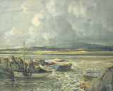 Showery Day, Bunbeg, Donegal Coast Giclee Print by Maurice Wilks