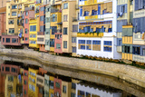 Coloured Houses on the Onyar River, Girona, Spain Photographic Print by Carlos Sanchez Pereyra