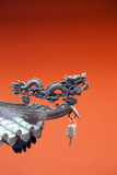 South East Asia, Singapore, Thian Hock Keng Temple, Detail of Dragon Sculpture Photographic Print by Christian Kober