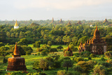 South East Asia, Myanmar, Bagan, Temples on Bagan Plain Photographic Print by Christian Kober