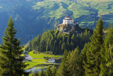 Europe, Switzerland, Graubunden, Engadine, Scuol Tarasp, Scuol Castle, (Schloss Tarasp) Photographic Print by Christian Kober