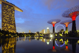 South East Asia, Singapore, South East Asia, Singapore, Gardens by the Bay and Marina Bay Sands Photographic Print by Christian Kober