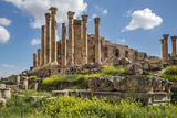 Jordan, Jerash. the Ruins of the Great Temple of Zeus in the Ancient Roman City of Jerash. Photographic Print by Nigel Pavitt