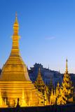 South East Asia, Myanmar, Yangon, Sule Paya Pagoda Photographic Print by Christian Kober