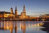 The Panorama of Dresden in Saxony with the River Elbe in the Foreground. Photographic Print by David Bank