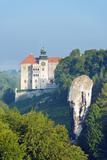 Europe, Poland, Malopolska, Ojcow National Park, Pieskowa Skala Castle and Hercules Club Photographic Print by Christian Kober