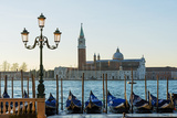 Europe, Italy, Veneto, Venice, San Giorgio Maggiore Church across Basino Di San Photographic Print by Christian Kober