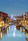 Europe, Italy, Veneto, Venice, Murano, Christmas Decoration on a Canal Photographic Print by Christian Kober