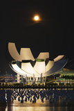 South East Asia, Singapore, Art Science Museum and Full Moon Photographic Print by Christian Kober