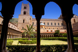 Italy, Sicily, Monreale. the Cathedral Form under the Monastery Arches. Photographic Print by Ken Scicluna