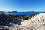 Turkey, Mediterranean Region, Turquoise Coast, Lycia, Kas, Antiphellos Ruins, Lycian Amphitheatre Photographic Print by Christian Kober