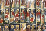 Romania, Bucovina, Sucevita. Wall Painting in Sucevita Monastery Photographic Print by Katie Garrod