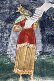 Romania, Bucovina, Sucevita. a Wall Painting in Sucevita Monastery Photographic Print by Katie Garrod
