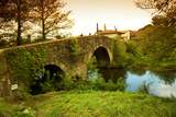 Spain, Galicia, an Old Bridge on the Camino Di Santiago Photographic Print by Ken Scicluna