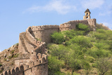 India, Rajasthan, Jaipur. a Massive Stone Wall Photographic Print by Nigel Pavitt