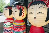 Asia, Japan, Honshu, Decorative Doll Lanterns Photographic Print by Christian Kober