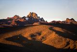 Kenya, Mount Kenya, Rutundu. Mount Kenya at Sunrise from the Northeast. Photographic Print by Nigel Pavitt