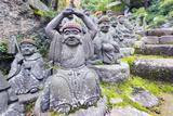 Asia, Japan, Honshu, Hiroshima Prefecture, Miyajima Island, Statues in Daisho in Temple Photographic Print by Christian Kober