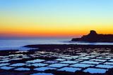 Mediterranean Europe, Malta, Gozo Island, Salt Pans at Sunrise, Xwejni Bay Photographic Print by Christian Kober