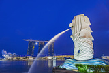 The Marina Bay Sands Hotel and Shopping Centre and the Singapore Art and Science Museum, Singapore Photographic Print by Cahir Davitt