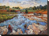 Hill Country Waters Stretched Canvas Print by Erin Hanson