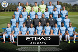 Manchester City- Team 16/17 Plakaty