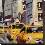 New York Taxi 6 Stretched Canvas Print by Robert Seguin