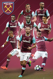 West Ham United- Players 16/17 Kunstdruck