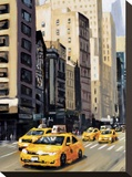 New York Taxi 1 Stretched Canvas Print by Robert Seguin
