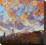 Over the Crest Stretched Canvas Print by Erin Hanson