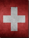 Switzerland Flag Stretched Canvas Print by  Wonderful Dream