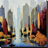 Urbania 90 Stretched Canvas Print by Robert Seguin