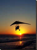 Sunset With Flying Style Stretched Canvas Print by  Wonderful Dream