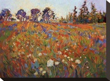 Wild in Flower Stretched Canvas Print by Erin Hanson