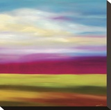 Magenta Horizon Stretched Canvas Print by Mary Johnston