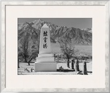 Monument in Cemetery Poster by Ansel Adams