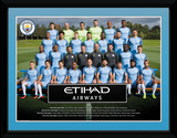 Manchester City - Team 16/17 Collector Print