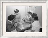 Bridge Game, Nurse Aiko Hamaguchi, Nurse Chiye Yamanaki, Catherine Yamaguchi, Kazoko Nagahama Prints by Ansel Adams