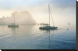 Bay Morning Stillness Stretched Canvas Print by Loren Soderberg