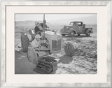 Tractor Repair: Driver Benji Iguchi, Mechanic Henry Hanawa, Prints by Ansel Adams