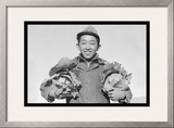 Richard Kobayashi, Framer with Cabbages Prints by Ansel Adams